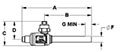 CYCLEMASTER® Ball Valves - FL x ODE - Dimensions