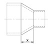 Fitting Reducer (FTG x C) - Dimensions