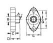 Forged Brass Solder Flanges And Gaskets - 2 Bolt, Serrated Gasket Surface-Dimensions