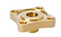 Forged Brass Solder Flanges And Gaskets - 4 Bolt, Groove Diameters