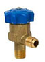 LINEMASTER® Packless Diaphragm Valves - Angle, NPTFE to Flare