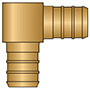 PEX Insert Elbows - No Lead Brass 28000NL Series