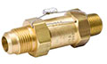 SAFETYMASTER® Pressure Relief Valves - Straight Thru - NPTFE Inlet to Flare Outlet